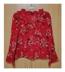 црвена кошула H&M