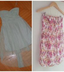 **Bershka fustan +Tallywejli cvetno vel S**