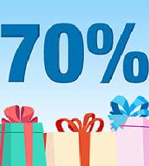70% попуст на сите артикли!!! НЕ ПРОПУШТАЈТЕ
