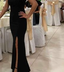 Dolg crn eleganten fustan