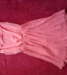 Ново розево плисе фустанче