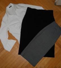 Komplet (2 pencil suknji + Kosula) vel M -350 den