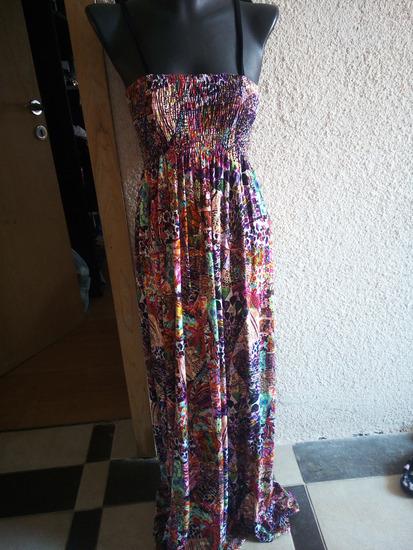 Долг мултиколор летен фустан