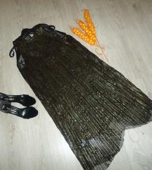 Nov plisiran formalen fustan