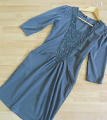 Siv fustan so aplikacii S/M