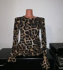 Animal print likren fustan M/L