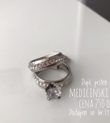Dupli prsten od medicinski celik