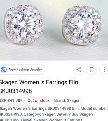 Skagen earrings stainless silver