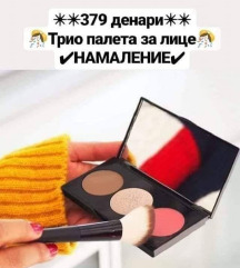 Trio paleta za lice