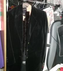 Плишано сако црно
