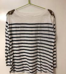 Блуза со риги, долги ракави