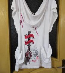 Блуза туника-рез