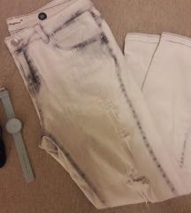 Светло сиви искинати фармерки