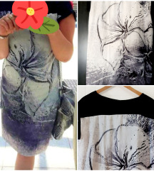 Sisley silk dress