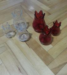 Kalinki novi stakleni crveni i prozirni