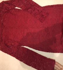 Crven mini cipkast fustan