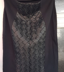 Crna pencil suknja, mnogu elasticna