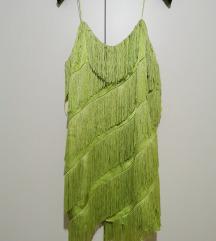 MANGO фустан со реси