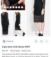 Lace dress by Zara