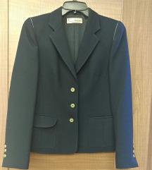 Тегет палто со кожни апликации