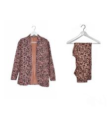 Leopard print suit (two piece set)