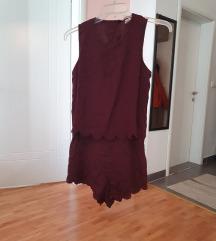 Сет фустани - бордо / темна сина - М/С