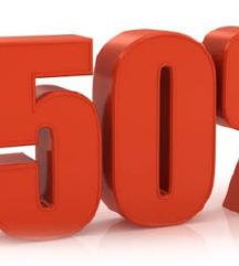 50% попуст на се што е објавено
