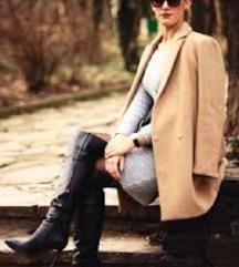 Stradivarius camel coat l
