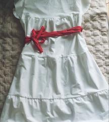 Ново бело преубаво фустанче S, M, L