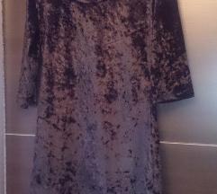 Црн плишан фустан вел.38 нам.200