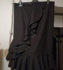 sexi crna volna suknja so karneri