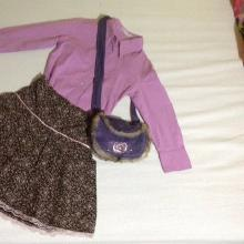 Komplet so violetova koshulka