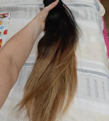 Ombre 100% prirodna kosa so klipsovi