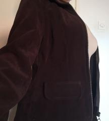 vintage кафеаво suede палто