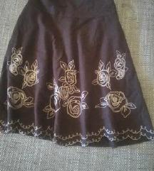 Unikatna 100'/.volnena suknja namalena *500*