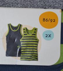 2 НОВИ маички од органски памук, за 2 г