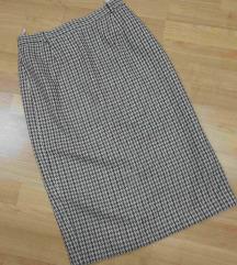 Volnena midi suknja
