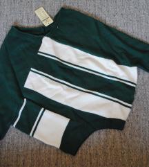 Зелен џемпер со етикета