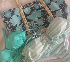 Floral beach bag