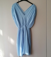 Plav fustan viskoza, free size