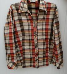 Bonita карирана кошула со патент
