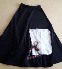 Crna dolga suknja
