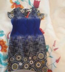 Nov damski mastilen fustan so etiketa