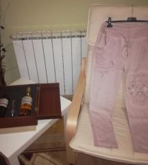 Розе спортски панталони
