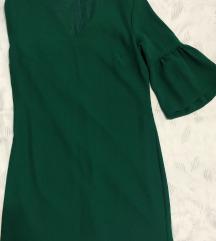 Namalen Temno zelen fustan
