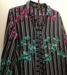 Летен фустан кошула со цветен принт