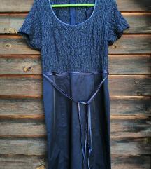 Тегет фустан од сатен и тантела