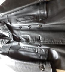 Кожено машко палто