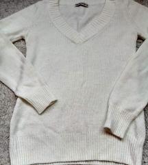 Bela pletena bluza  NAMALENA