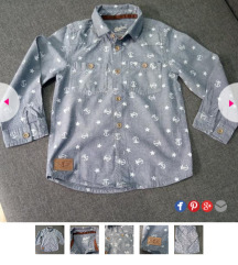 REBEL кошула за момче НАМАЛЕНА